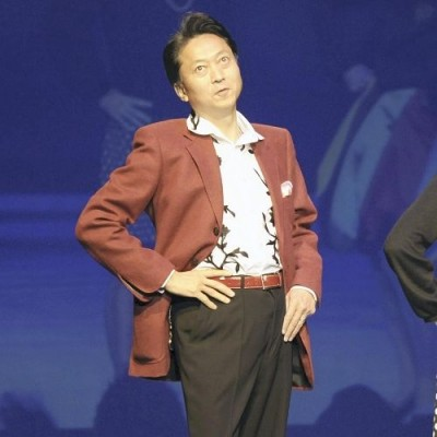 "The infamous shot of Hatoyama at a charity fashion show, sporting that same classic number from ""At Home With the Hatoyamas"" (Oct. 2009)"