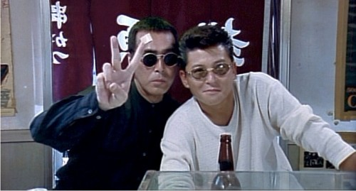 Even infamous yakuza hitman, Kunihiro, flashes the peace sign when the cameras flashes. (From Onibi: The Fire WIthin, 1996-Gaga Films)