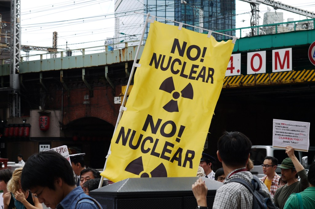 anti-nuclear signs were among the most numerous
