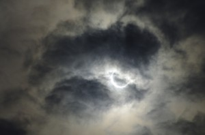 The annular solar eclipse over Tokyo, Monday, May 21, 2012. (Albert Siegel)