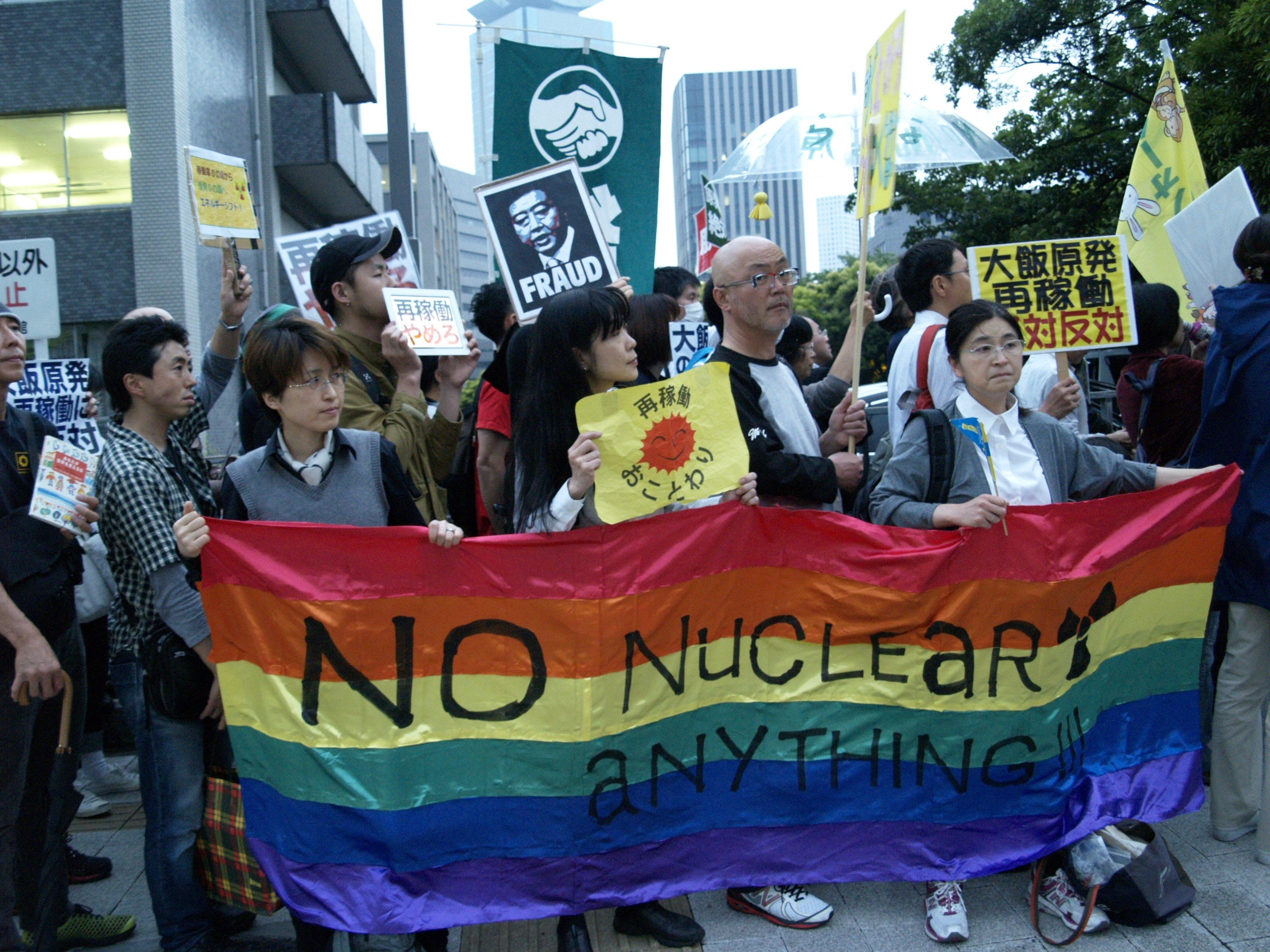 "Demonstrators Oppose Restart of Reactors ""The Nuclear Age is Over!"""