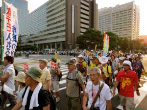 Every Friday night thousands gather to call for an end to nuclear power in Japan.
