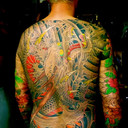 John was tattooed by Horiyoshi III for several years