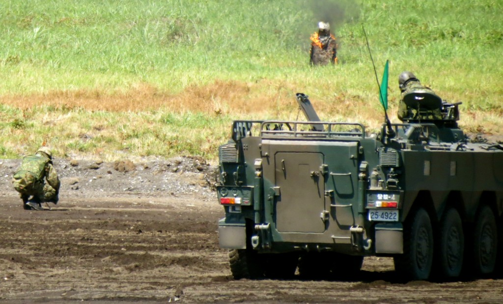 Targeting human target on ground fight