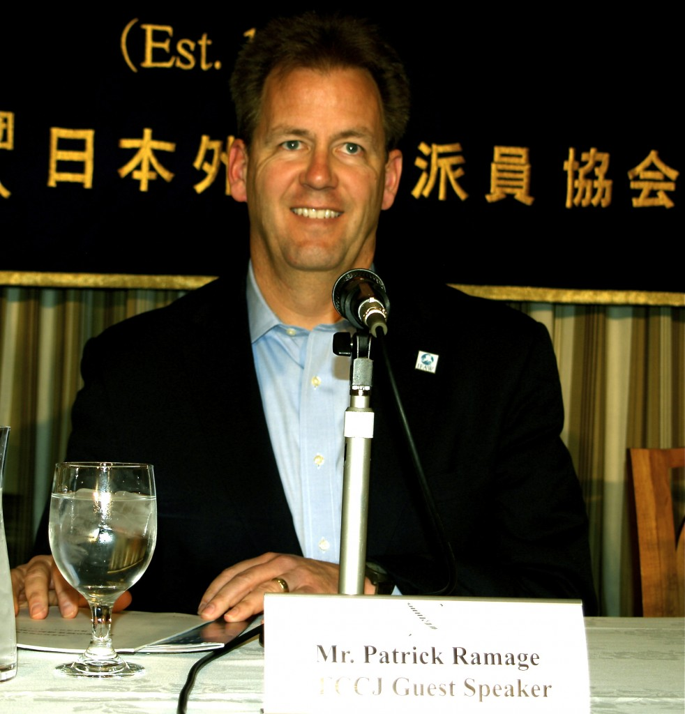 Patrick Ramage, Director of the International Fund for Animal Welfare Global Whale Programme gave a press conference in Tokyo yesterday