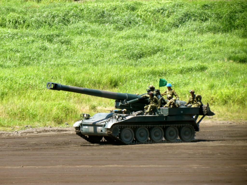 Shizuoka SDF military drill in August 2012