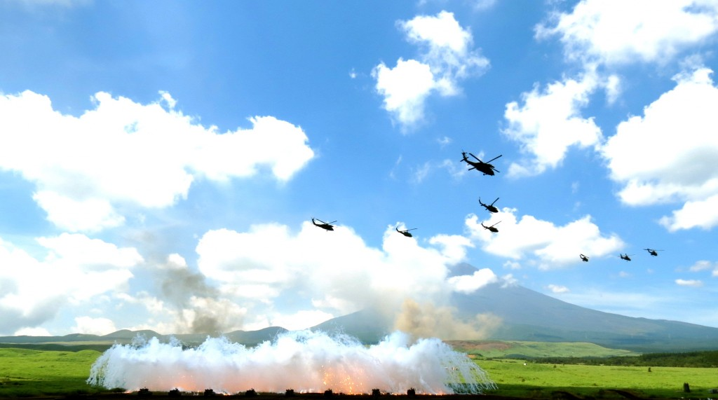 The Shizuoka 2012 military drill was explosive