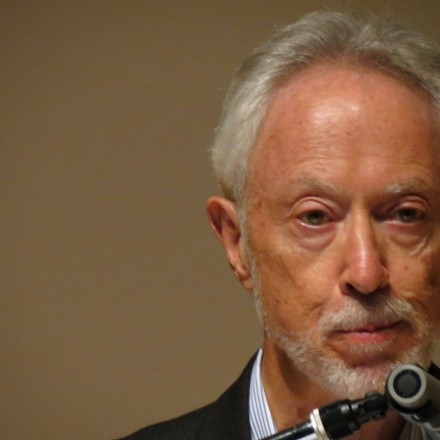 "South African Nobel price winner for Literature, J.M. Coetzee reading a chapter of his upcoming novel ""The Childhood of Jesus"" in front of a literary audience in Tokyo"