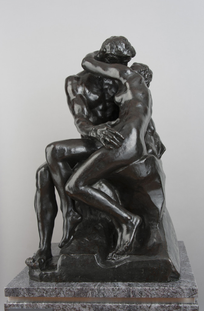 Artist Name: Auguste Rodin Title of the work: The Kiss c. 1882-87 (model) Bronze 87 x 51 x 55 cm Collection: The National Museum of Western Art, Tokyo. Matsukata Collection. Photo: Ueno Norihiro