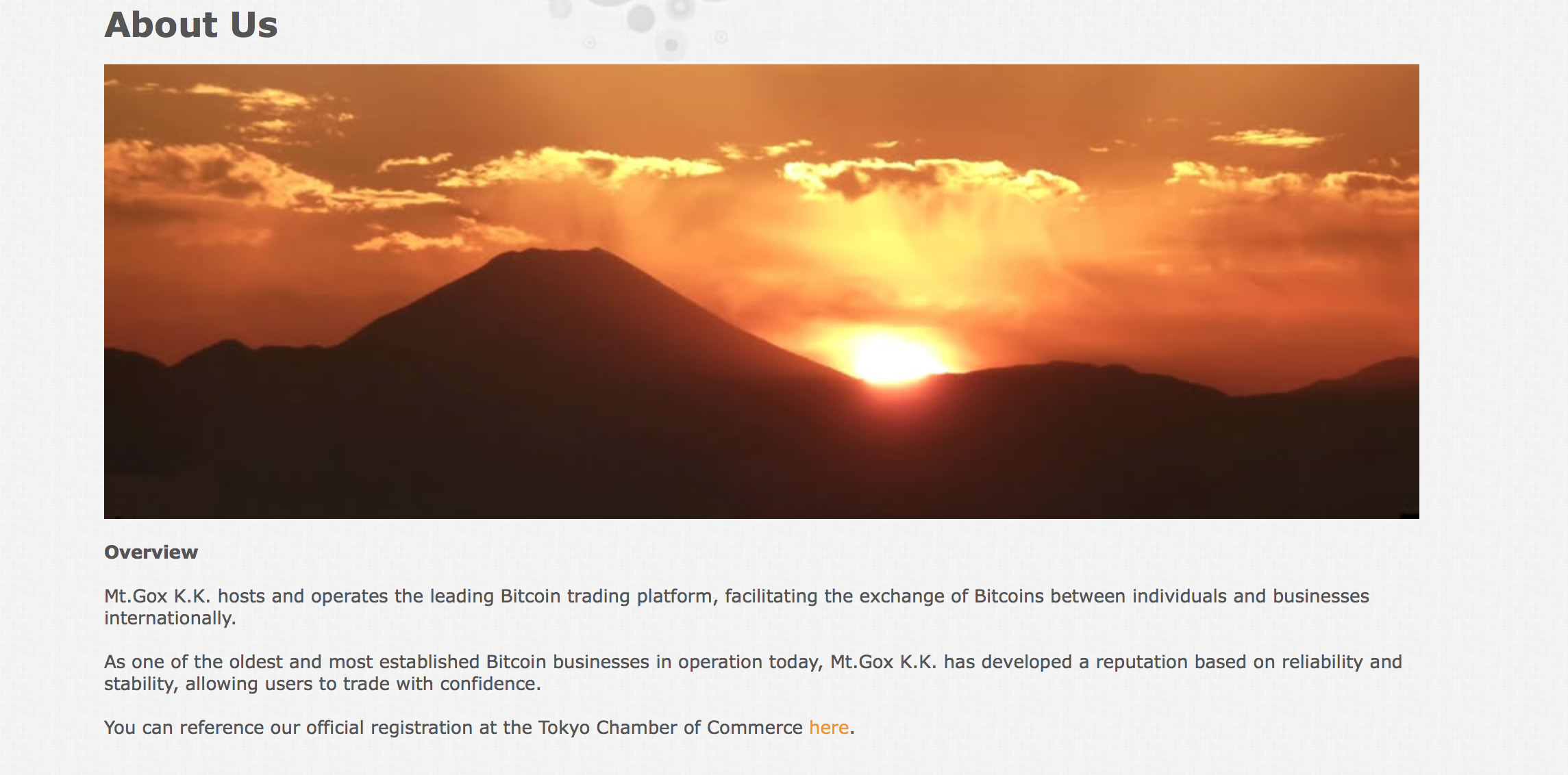Mt.Gox: The Bitcoin Exchange Eruption Timeline