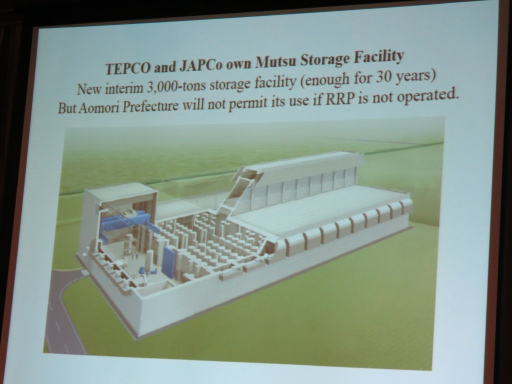 There is a nuclear fuel storage facility not being used due to political reasons rather than technical ones.