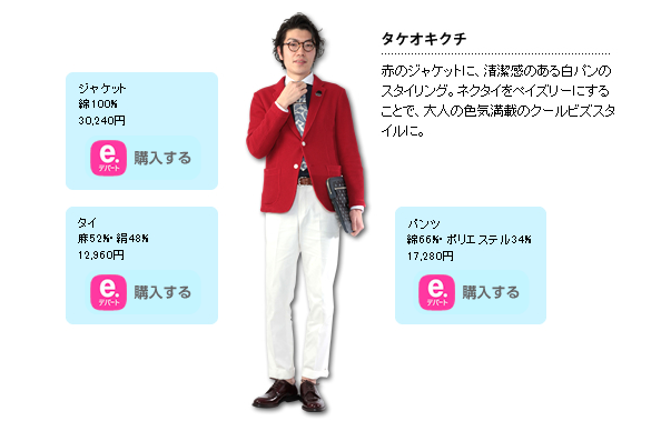 Japan's Summer 2014 must-have Cool Biz items: white pants and fans all over your body