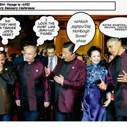 Klingon Warlord Xi hosts UFP conference but not all goes well.