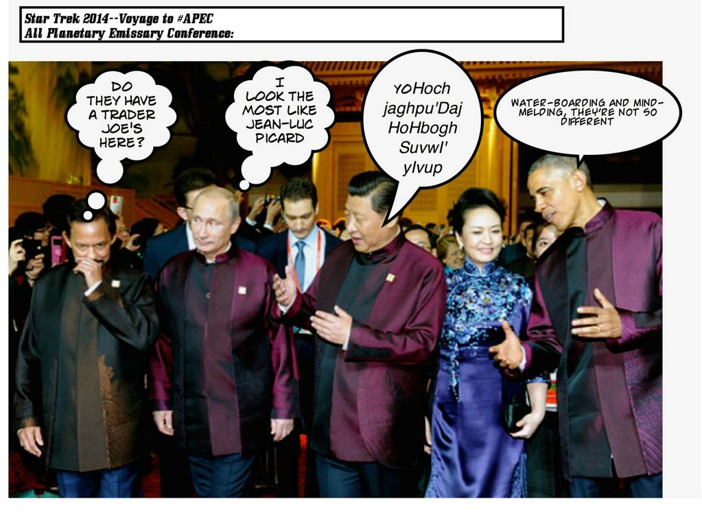 The Star Trek Conference In Beijing: Klingon Warlord Xi Disses Tanuga* IV Leader Abe