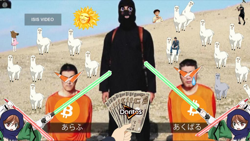 ISIS: all about the money. One of many photoshopped photos ridiculing the group.