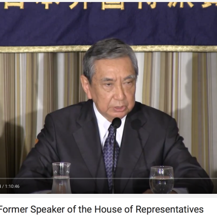 Yohei Kono, former Foreign Minister of Japan, sets the record straight on comfort women, security bills, and Japan's diplomacy